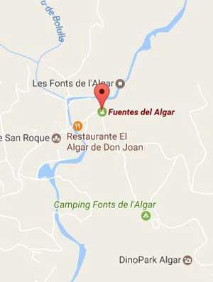 Fuentes del Algar Mapa
