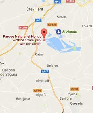 Reserva Natural El Hondo Mapa
