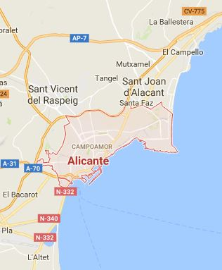 Map of Alicante