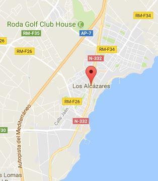 Mapa de Los Alcázares