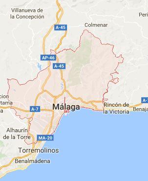 Map of Málaga