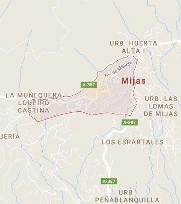 Map of Mijas