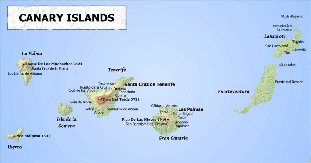 Islas Canarias Map