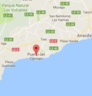 Mapa of Puerto del Carmen