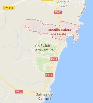 Mapa de Caleta de Fuste