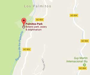 Palmitos Park Mapa