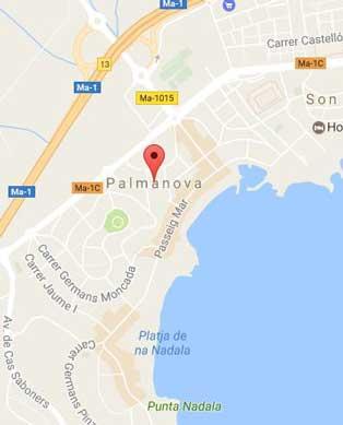 Palma Nova Mapa