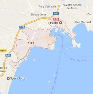 Ibiza Ciudad Mapa