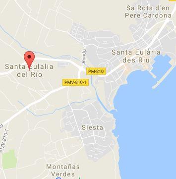 santa eulalia mapa