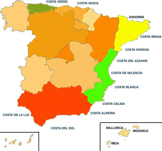 Spanish Costas Map