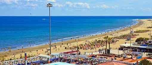 Playa del Inglés in Gran Canaria