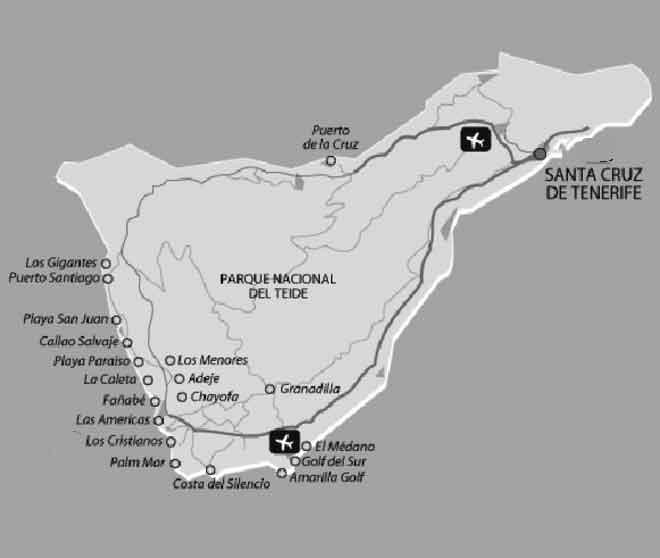 Map of Tenerife Resorts